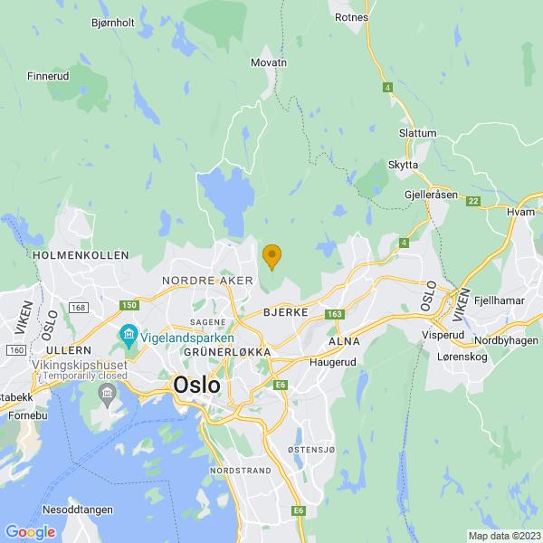 Google Map of 59.9568457,10.8094055