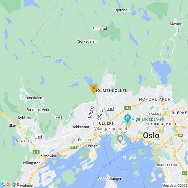 Google Map of 59.9591955,10.626906200000008