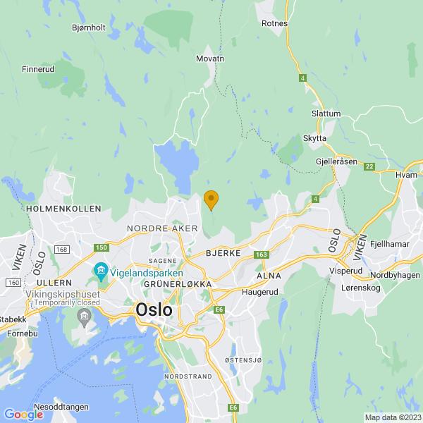 Google Map of 59.961482704466775,10.808234199338145
