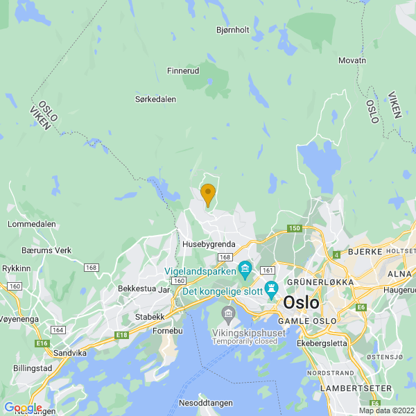 Google Map of 59.9628446,10.66459169999996