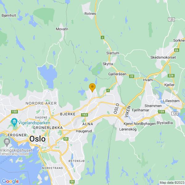 Google Map of 59.9651563,10.8750271