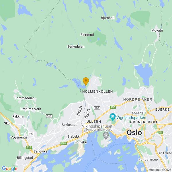 Google Map of 59.96950734949171,10.636518528871655
