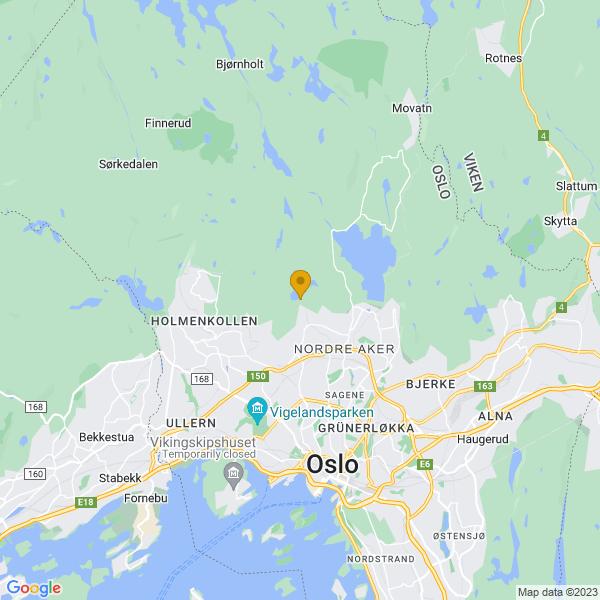 Google Map of 59.9702456,10.7303951