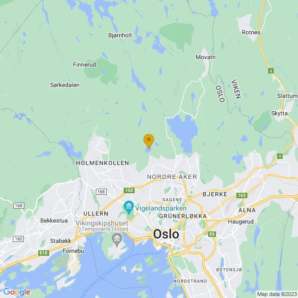 Google Map of 59.97268500481372,10.728719494579213