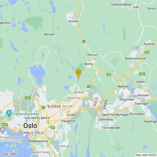 Google Map of 59.9781667,10.883093700000018