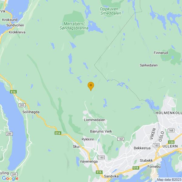 Google Map of 59.98763620249068,10.481592683408989