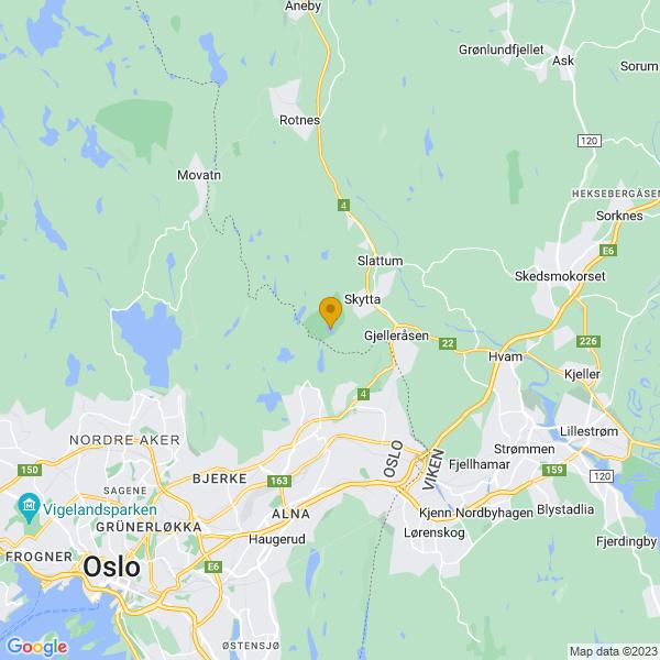 Google Map of 59.987706312362626,10.888866398382543