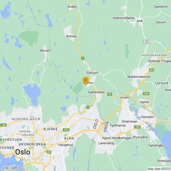 Google Map of 59.9938939,10.9039489