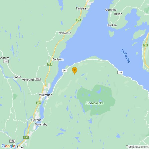 Google Map of 59.99402803301188,10.075356981486507