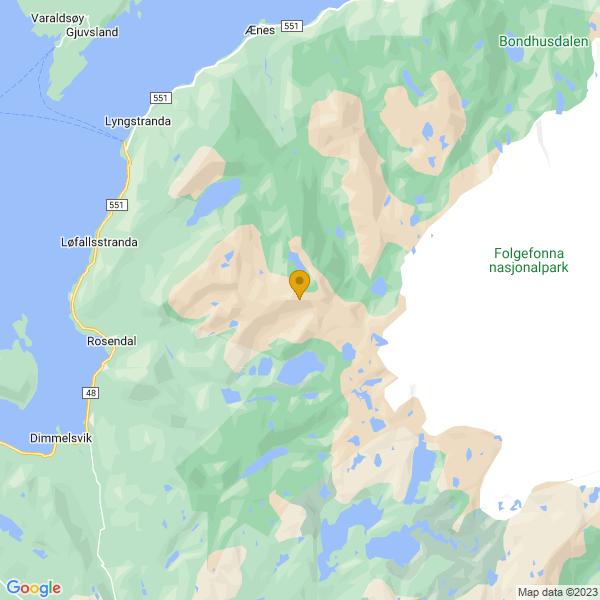 Google Map of 59.9999579,6.140415399999999