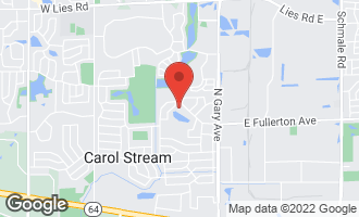 Map of 590 Woodcrest Court CAROL STREAM, IL 60188