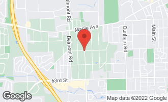 Map of 5900 Woodward Avenue DOWNERS GROVE, IL 60516