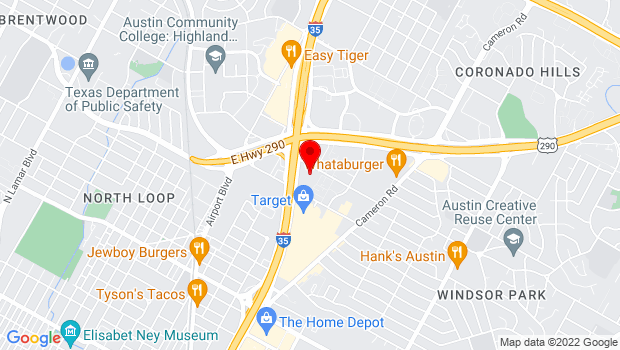 Google Map of 5901 North Interstate 35, Austin, TX 78723
