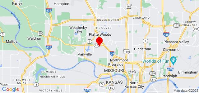 Google Map of 5901 Northwest 63rd Terrace, Kansas City, MO