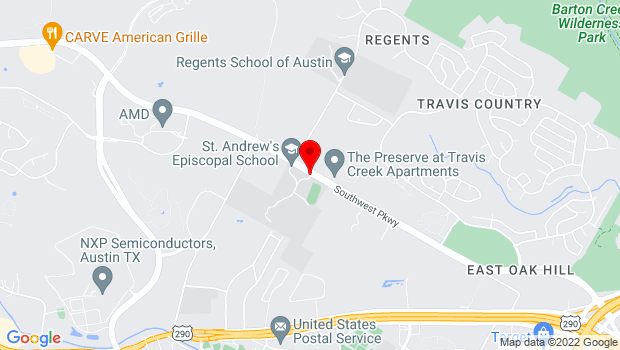 Google Map of 5901 Southwest Pkwy, Austin, TX