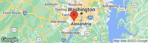 Map of 5902 FLANDERS STREET SPRINGFIELD, VA 22150