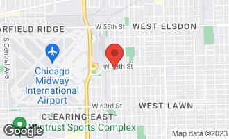 Map of 5914 South Kilbourn Avenue CHICAGO, IL 60629