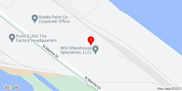 Google Map of 5915 North Marine Dr., Portland OR  97203