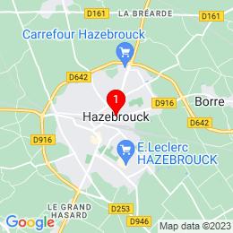Plan de 59190 Hazebrouck