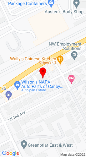 Google Map of Equipment NW 593 SE 1st Avenue, Canby, OR, 97013