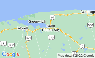 Map of St Peters Bay Campground