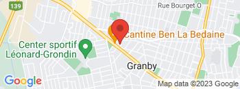 Google Map of 595%2C+boulevard+Boivin%2CGranby%2CQuebec+J2G+2M1