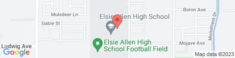 Google Map of 599 Bellevue Ave, Santa Rosa, CA 95407