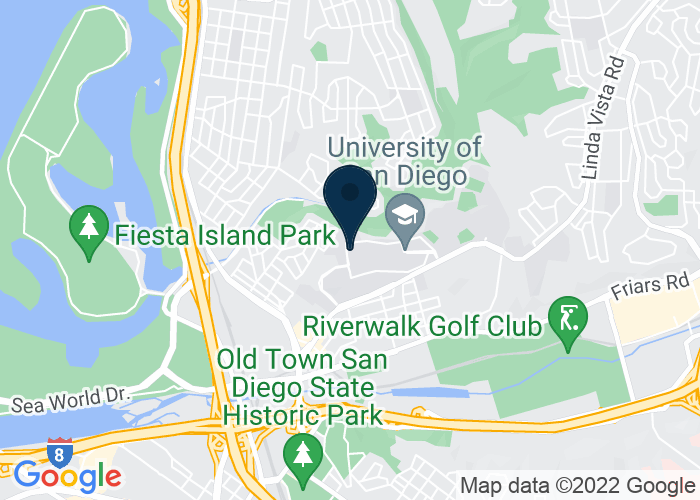Map of 5998 Alcala Park, San Diego, CA 92110, United States
