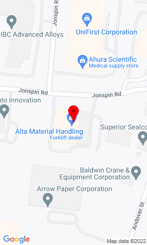 Google Map of Northland JCB 6 Jonspin Road, Wilmington, MA, 01887