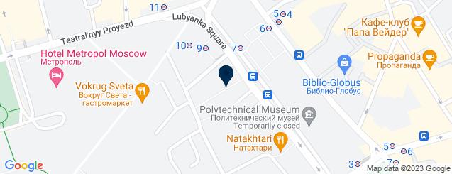 Google Map of 6 Novaya Ploshchad 2nd Floor 109012 Moscow