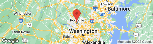 Map of 6 CLEMSON COURT ROCKVILLE, MD 20850