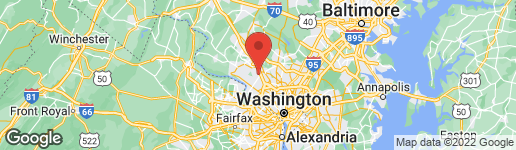 Map of 6 HEARTHSTONE COURT ROCKVILLE, MD 20854