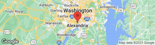 Map of 6 KEITHS LANE ALEXANDRIA, VA 22314