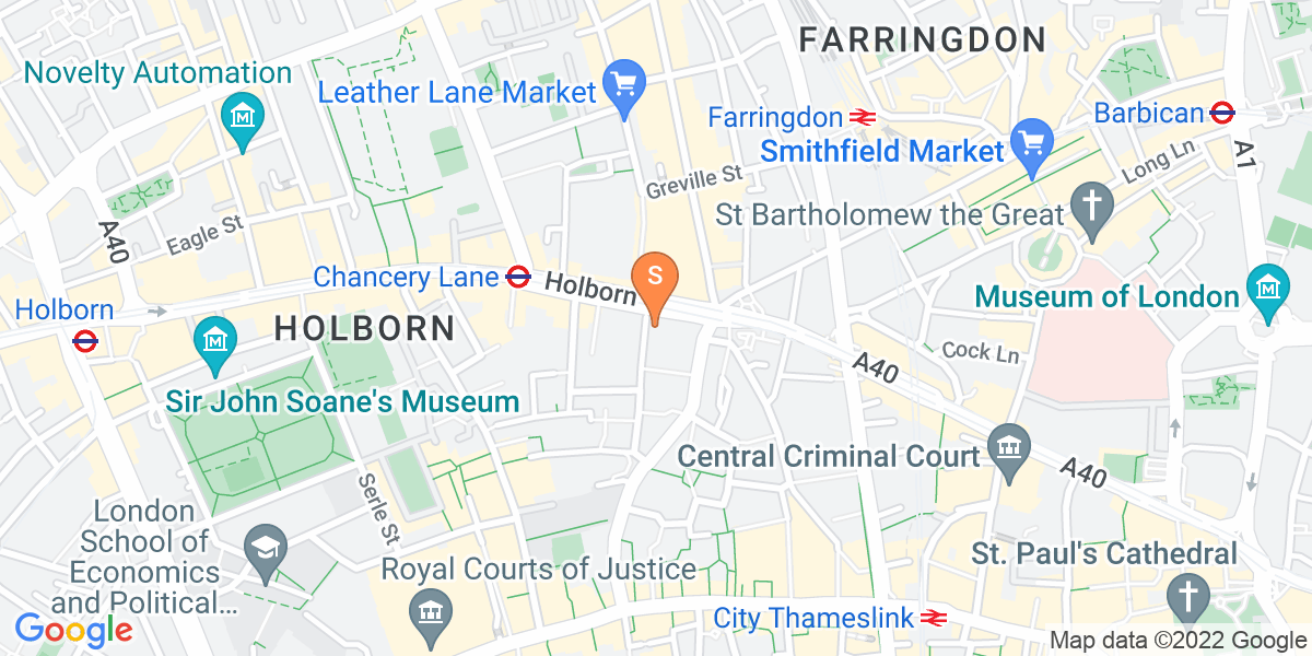 Google Map of 60 Fetter Lane London EC4A 1AA
