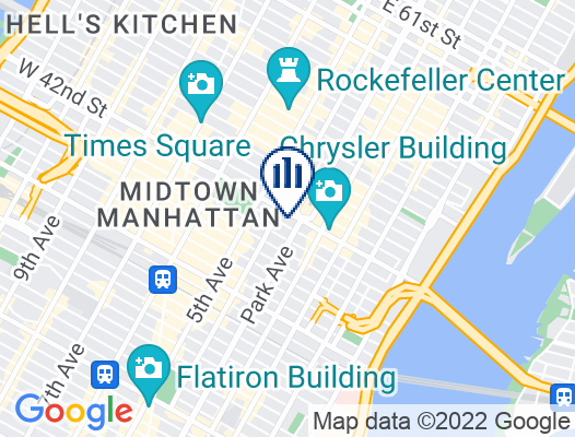 Google Map of 60 East 42nd Street Suite 3710  New York, NY  10165