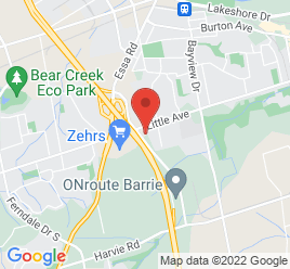 Google Map of 60+Fairview+Road%2CBarrie%2COntario+L4N+8X8