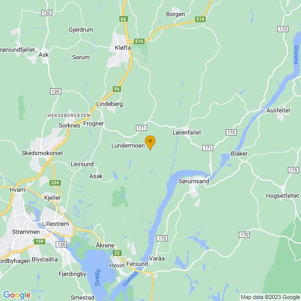 Google Map of 60.006303,11.18053789999999