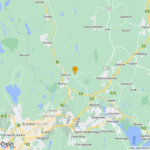 Google Map of 60.0090023,10.9461436