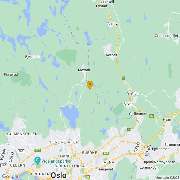 Google Map of 60.01322070000001,10.820699699999977