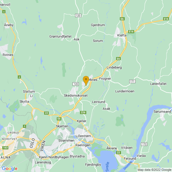 Google Map of 60.01566576538269,11.057052612304688