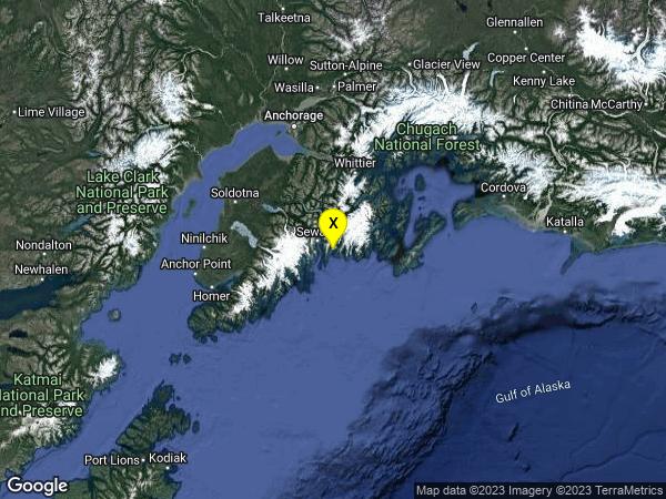 earthquake 18 km ESE of Lowell Point, Alaska