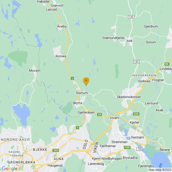 Google Map of 60.0176178,10.9300266