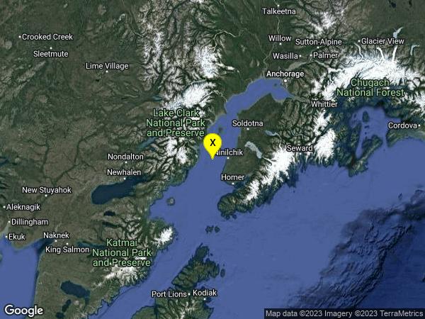 earthquake 32km NNW of Anchor Point, Alaska