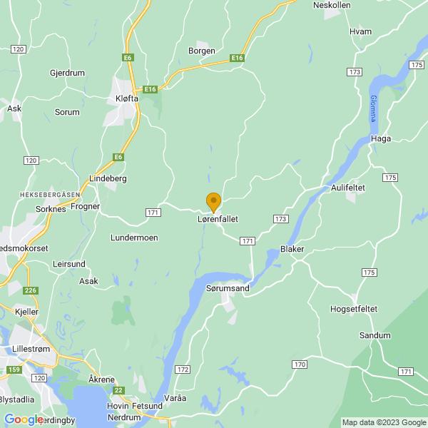 Google Map of 60.020947,11.226456