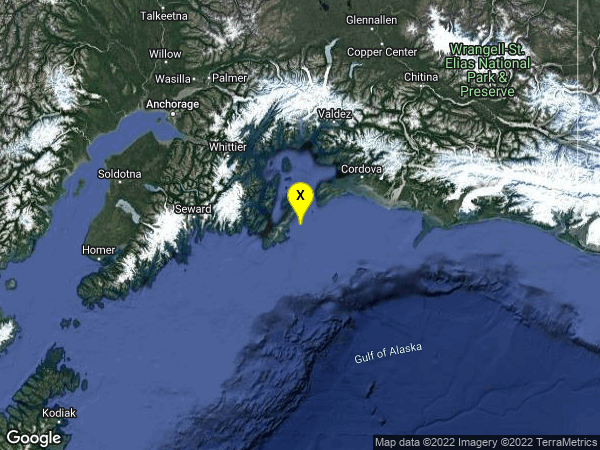 earthquake 78km NNW of Middleton Island, Alaska