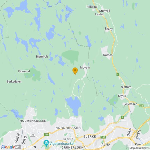 Google Map of 60.02567618259845,10.779675102521677