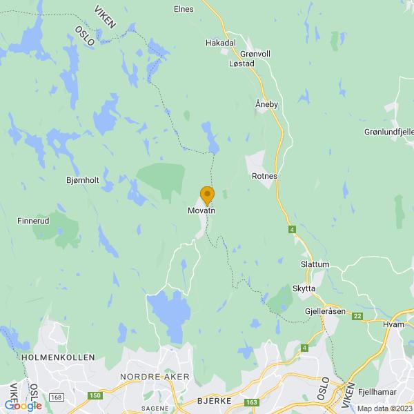 Google Map of 60.03776409999999,10.812732600000004