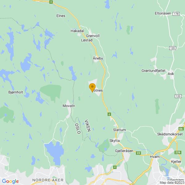 Google Map of 60.0508179,10.8599626