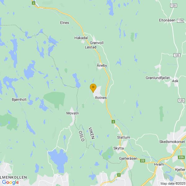 Google Map of 60.0582234,10.852716999999984