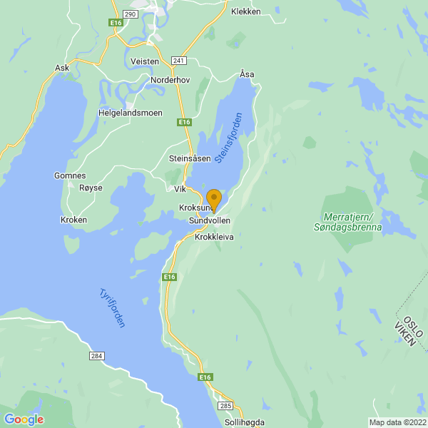 Google Map of 60.06518215949671,10.314084664097475